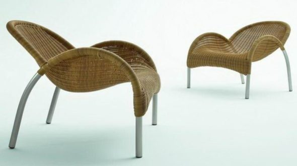Wicker Easy Chairs
