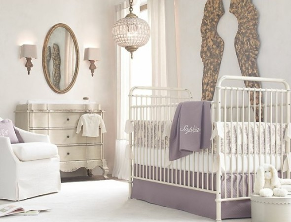 Lilac Baby Room Decor