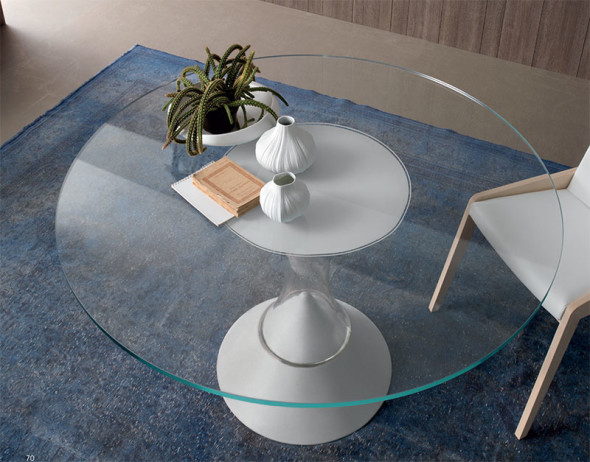 Estrella Glass Table white