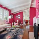Arranged Interior Decor pink white